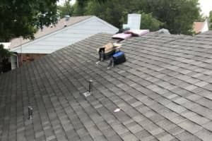 Architectural Shingles being installed on a Highland Village home. We replace roofs in Highland Village and Flower Mound very often.