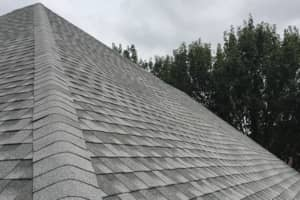 This is a picture of the roofing ridge line. We use three tab shingles on ridges.